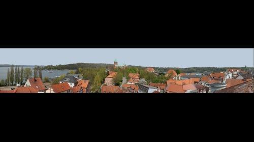 Ratzeburg - Blick ueber den Domhof von Sueden