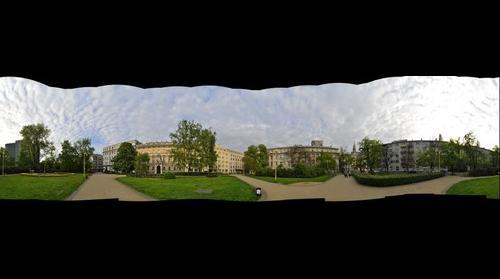 Dabrowskiego square in Warsaw 360 Plac Dabrowskiego w Warszawie