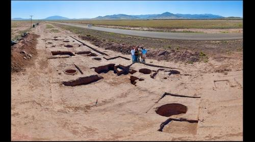 Archaeological site, Carrizozo, New Mexico