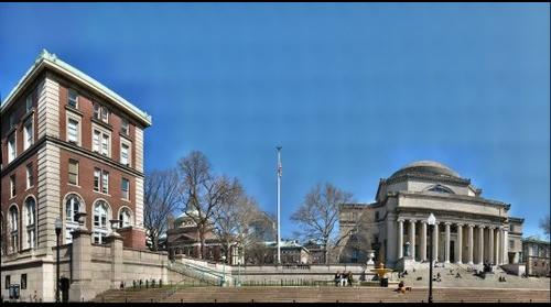 Columbia University - Northwest section from Campus Walk