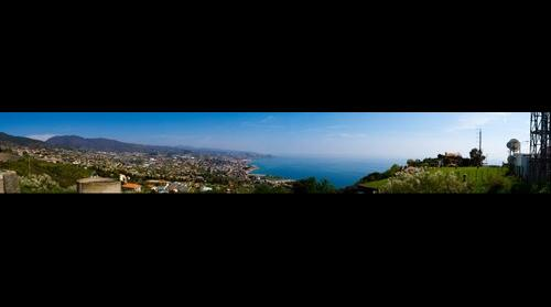 San Remo from above the hills
