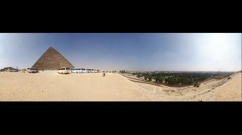 Giza Pyramids and city