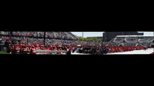 Stony Brook University - Main Commencement Ceremony at Kenneth P. LaValle Stadium, May 21, 2010 (Panorama 4)