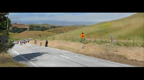 Tour of California - Calaveras Road Milpitas