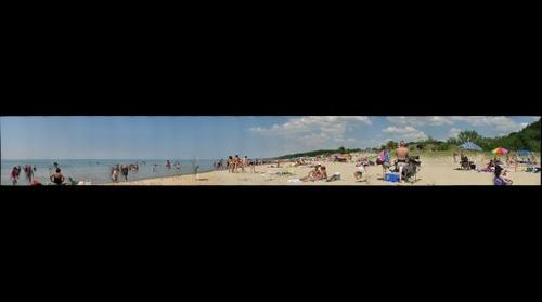 People Disfigured On The Beach