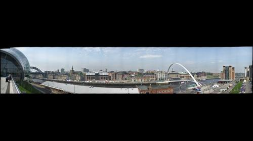 Newcastle Quayside seen from Gateshead 1