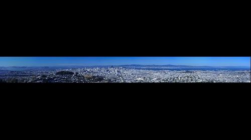 San Francisco Panoramic from Twin Peaks