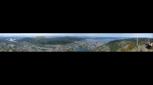Bergen city viewed from Ulriken