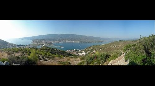 Greece, Island of Poros, city panorama