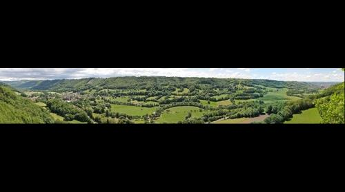 Vallee de la Jordanne, Saint-Simon, Aurillac, Rocher du Martinet
