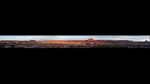 Maze sunrise - panorama 1