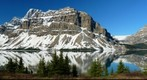 Bow Lake, Crowfoot Mountain...the majesty of the morning