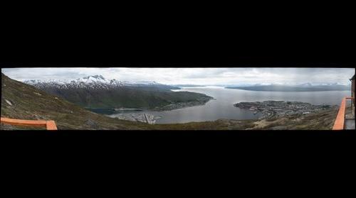 Aussichtspunkt Narvik, am Ende der Gondelbahn