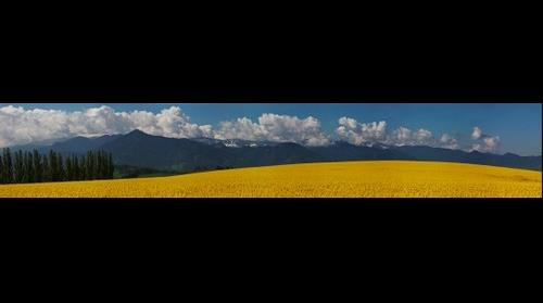Panorama of the Low Tatras over Smrecany - Slovakia