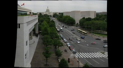 The US Capitol and Pennsylvania Ave