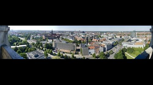 Panorama vom Rathausturm in Hannover