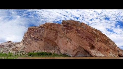 Split Mountain as cut by the Green River, Dinosaur NM, Utah