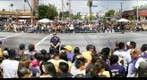 Crowd waiting for the Los Angeles Lakers Victory Parade - June 21, 2010