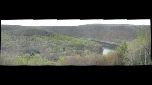 Kennerdell Overlook, view of the Allegheny River around Kennerdell, PA