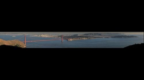 Golden Gate Bridge, San Francisco, and the south bay area