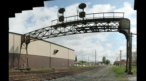 Pensylvania Railroad signal bridge Canton Ohio