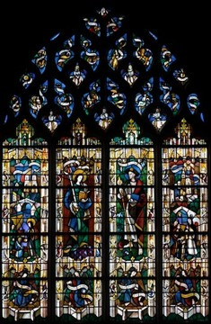 Vernon stained glass window