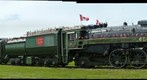 CN 6060 steam locomotive at Big Valley. Alberta