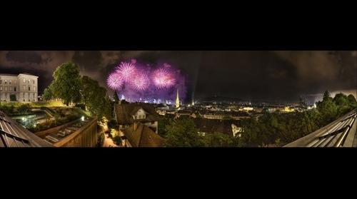 Zuerifaescht 2010 - Panorama Firework