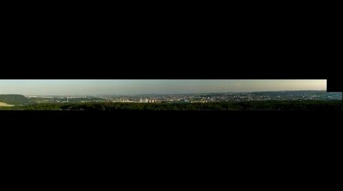Evening from lookout tower in Sobesice (Brno, Czech Republic)