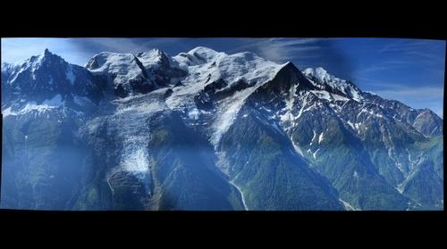 Aiguille du midi et Le Mont-Blanc