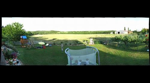 View to the garden in Neufgrange France
