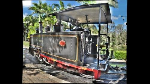 'Invicta' Sugarcane Steam Engine, Bundaberg, QLD, Australia