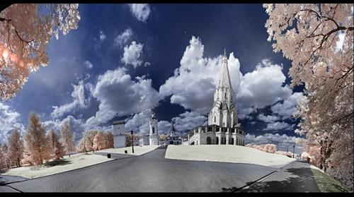 Kolomenskoye, Church of the Ascension (Infrared pano)