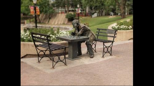 Chess Statue