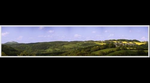 Sicht auf die Augustusburg und Waldkirchen