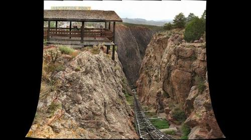 Royal Gorge Bridge Pano 07 - Incline Railway