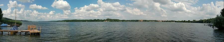 Panorama Nr. 2 vom Großen Ratzeburger See (180 Grad)