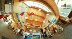 Bruce Peninsula- Visitor Centre: Main Hall in Little Planet Projection, May 23, 2010