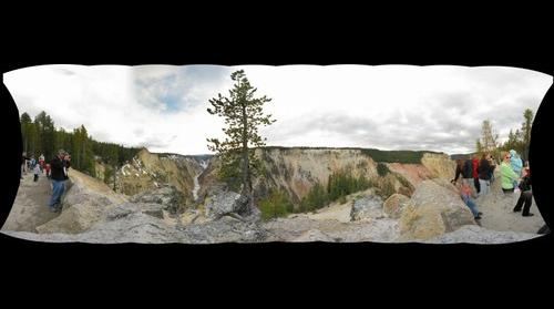 Grand Canyon of the Yellowstone, Artist Point Overlook, Yellowstone National Park (low res/0.3GP)