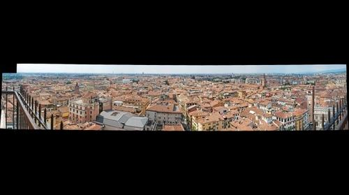 Verona from the lamberti's tower