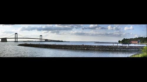 Throgs Neck Bridge and Little Bay Park