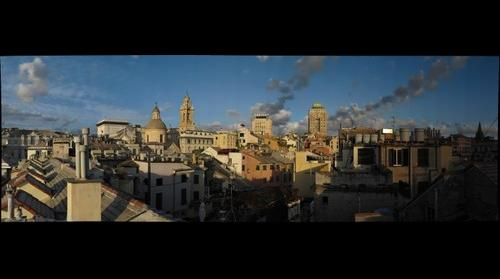 Genova Downtown Sunset