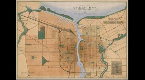 John Nolen 1921 plan for Green Bay Wisconsin
