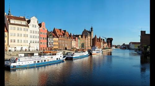 Motlawa river Gdansk (Długie Pobrzeże)