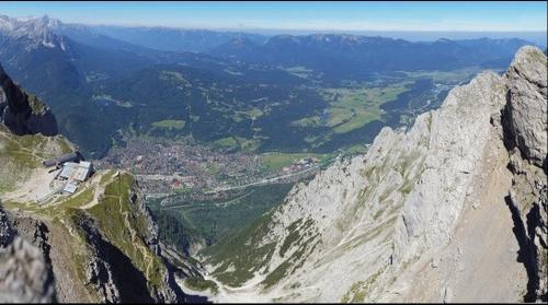Mittenwald view from Karwendelspitze