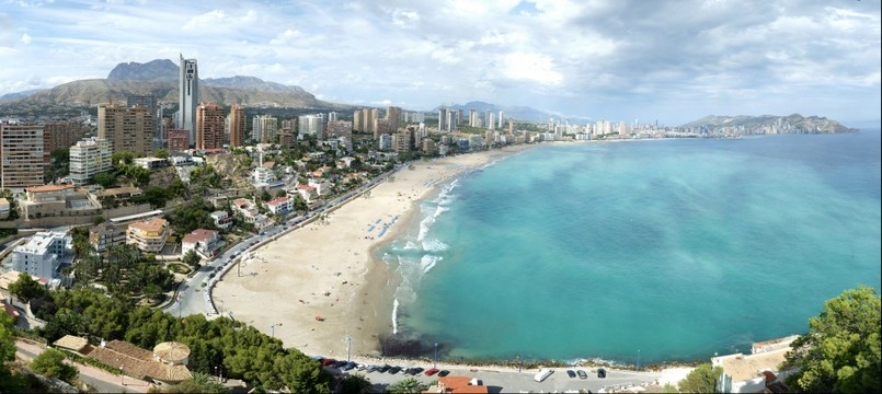 Benidorm after the rain