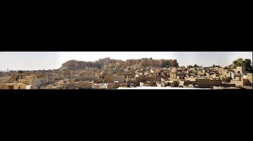 The golden city of Jaisalmer, India