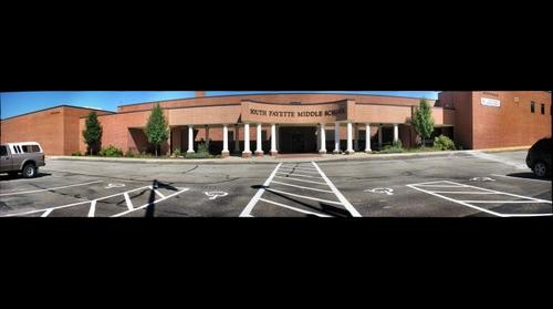 Front of South Fayette Middle School Gigapan