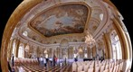 Interiors of Royal Castle in Warsaw - The Great Assembly Hall  // Wntrza Zamku Krlewskiego  - Sala Wielka 