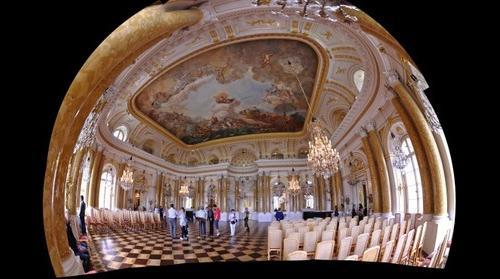 Interiors of Royal Castle in Warsaw - The Great Assembly Hall  // Wnętrza Zamku Królewskiego  - Sala Wielka